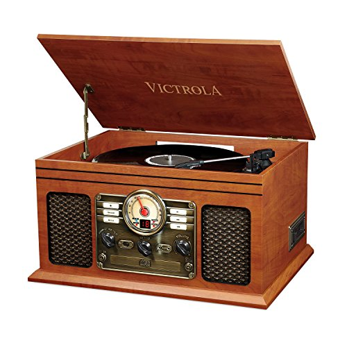 Victrola Classic 6-in-1 Bluetooth Record Player Music Centre - Mahagoni von Victrola (DE)