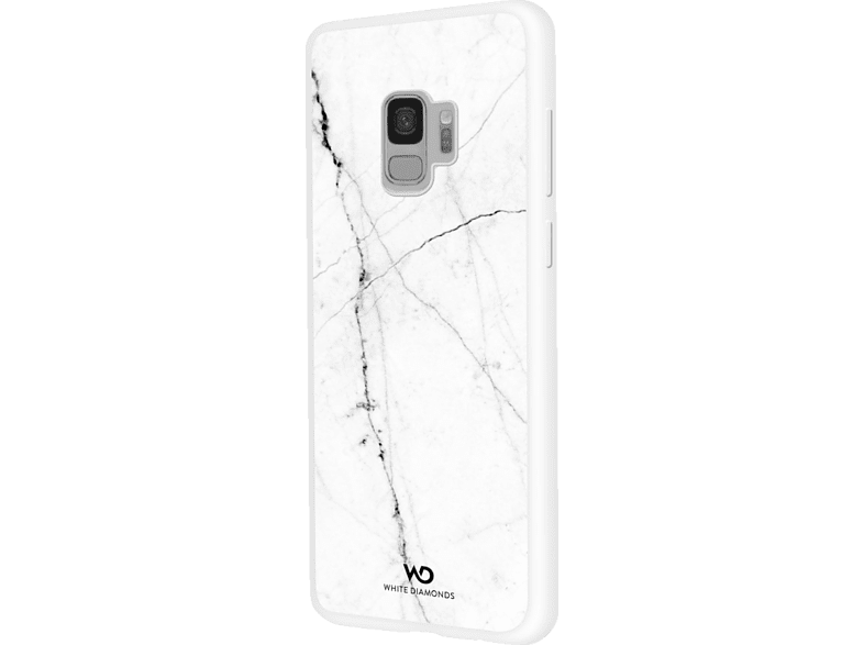 WHITE DIAMONDS Tough Marble , Backcover, Samsung, Galaxy S9, Kunststoff, Weiß von WHITE DIAMONDS