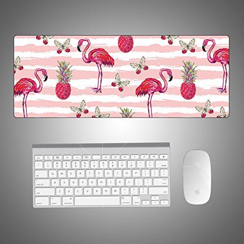 Kreative Mauspad Flamingo Mauspad Tischset Cartoon, 1 Flamingo, 900x400x3mm von WQMousePad