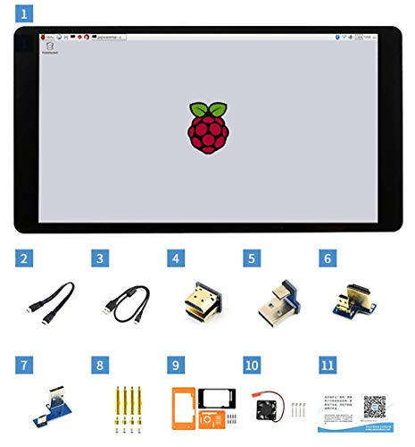 5.5inch Capacitive Touch Screen AMOLED with Protection Case 1080x1920 Display HDMI Interface 170° Viewigng Angle Supports Multi Systems for Raspberry Pi von Waveshare