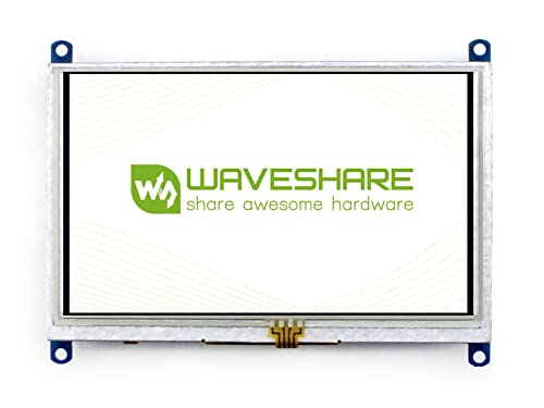 Waveshare 5 Inch Resistive Touch Screen LCD(B) 800 * 480 Resolution HDMI USB Interface Supports Mini-PCs Raspberry Pi/BB Black/Banana Pi Driver Free,Computer Monitor for Windows 10/8.1/8/7 von Waveshare