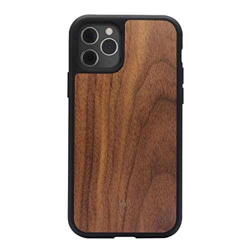 Woodcessories - Hülle kompatibel mit iPhone 11 Pro aus Holz - EcoBump Case (Walnuss) von Woodcessories