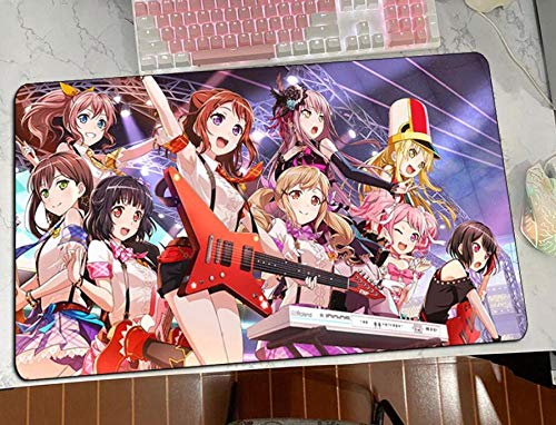 Wsjjshg Gaming Mauspads,Bang Dream Mousepad Buntes Gaming-Mauspad PC-Computerzubehör Mat XXL Laptop-Schreibtischschutzpads Farbe 2 XL (30X80Cm) von Wsjjshg