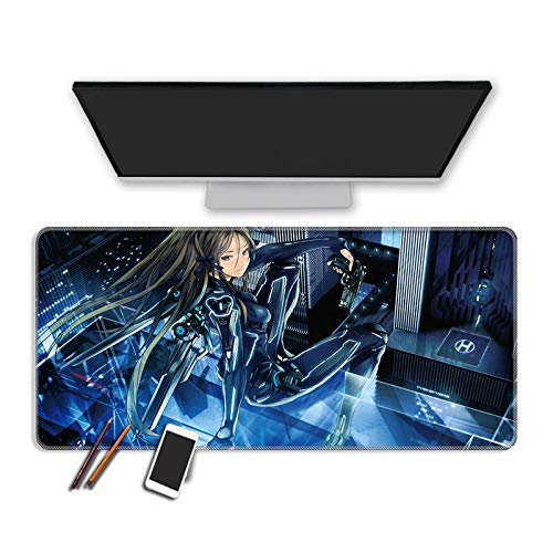 Wsjjshg Gaming Mauspads,Sweet Girl Mousepad Gaming Mouse Pad Large Thickess Notebook Pc Accessories Laptop Padmouse Ergonomic Mat Color 2 L(30X70Cm) von Wsjjshg