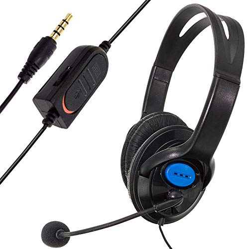 Gaming Headset für PS4 Xbox One PC,Gaming Kopfhörer mit Mikrofon, LED Light Bass Surround,Aluminiumgehäuse für Computer Laptop Mac Nintendo Switch Spiele von XDEYYY