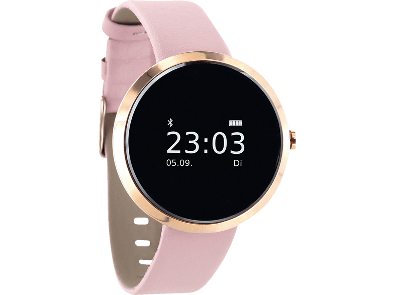 XLYNE  X-WATCH PRO SIONA XW FIT (54010) Smartwatch Metall, Kunstleder, 185 mm x 18 mm, Gehäuse: Roségold/Armband: Light Rose von XLYNE