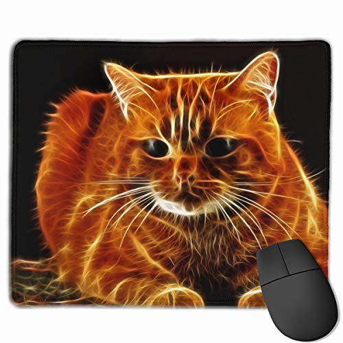 Gaming Mauspad Cat Hair Face Thick Abstraction Rubber Mousepad (30 x 25 cm) | Fransenfreie Ränder | Rutschfest von Yesliy
