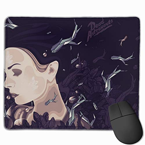 Gaming Mauspad Face Figure Girl Hair Wind Paint Rubber Mousepad (30 x 25 cm) | Fransenfreie Ränder | Rutschfest von Yesliy
