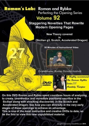 Roman's Chess Labs, Vol. 92: Staggering Novelties that Rewrite Modern Opening Theory DVD