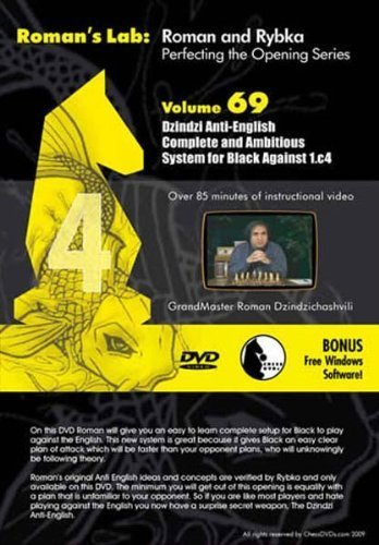 Roman's Chess Labs: Vol. 69, Mastering Chess Series - Anti-English: Complete and Ambitious System for Black against 1.c4 DVD