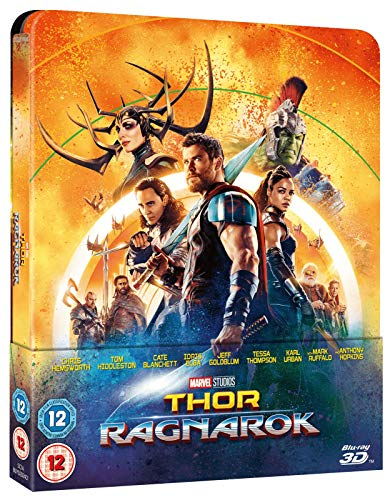 Thor Ragnarok 3D Limited Edition Steelbook / Lenticular Cover / Import / Includes Region Free Blu Ray