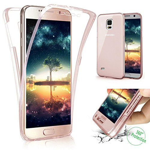 Galaxy S3 Hülle,Galaxy S3 Neo Hülle,ikasus Galaxy S3 / S3 Neo TPU Hülle [Full-Body 360 Coverage Protective],Kristallklar Durchsichtig TPU Silikon Hülle Schutz Handy Hülle Case Tasche Etui Bumper Crystal Case Hülle für Samsung Galaxy S3 i9300 / Galaxy S3 Neo Gt-i9301i i9301 Front + Back Rundum Double Beidseitiger Schutz Cover Silikon Stoßdämpfend Transparent TPU Silikon Schutz Schutzhülle Handyhülle Schale Etui Protective Case Cover - Rose Gold von ikasus