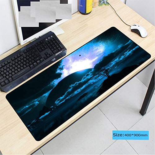 Lbonb  Große Gaming Gamer Verschlusskante Tastatur Mauspad Gaming Desk Mauspad 90 * 40 Cm von lbonb