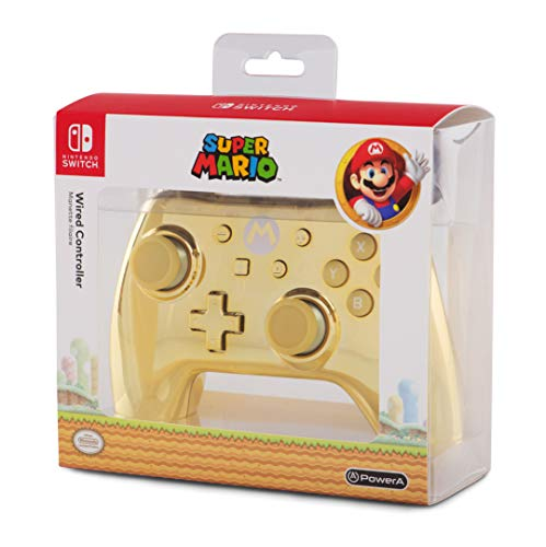 contoler nintendo switch mario gold edition chrome von POWER A