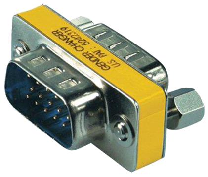shiverpeaks BASIC-S Mini-Gender Changer 15 Pol VGA Stecker - von shiverpeaks