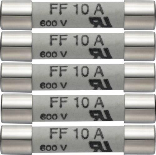 600 V 5er Set Ersatzsicherungen 10A//600V Testo 0590 0005 Ersatz-Sicherungen 10 A