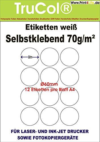 600 Etiketten A4 Bogen 70 x 37 mm selbstklebend transparent matt PET-Folie