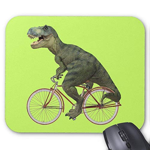 Tyrannosaurus T.rex Dinosaur Bicycle Cycling Mouse Pad von ziHeadwear